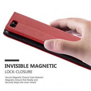 Cadorabo Hülle für Huawei P10 in APFEL ROT Handyhülle mit Magnetverschluss, Standfunktion und Kartenfach Case Cover Schutzhülle Etui Tasche Book Klapp Style - Vorschau 5