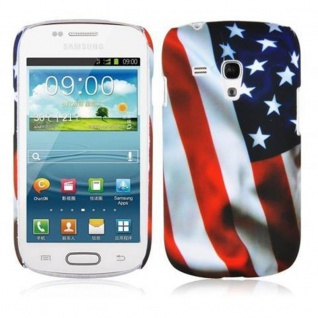 Cadorabo - Hard Cover für Samsung Galaxy S3 MINI - Case Cover Schutzhülle Bumper im Design: STARS AND STRIPES