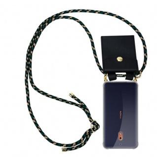 Cadorabo Handy Kette für Nokia 2.1 2018 in CAMOUFLAGE Silikon Necklace Umhänge Hülle mit Gold Ringen, Kordel Band Schnur und abnehmbarem Etui Schutzhülle