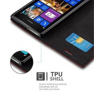 Cadorabo Hülle für Nokia Lumia 925 in APFEL ROT Handyhülle mit Magnetverschluss, Standfunktion und Kartenfach Case Cover Schutzhülle Etui Tasche Book Klapp Style - Vorschau 4