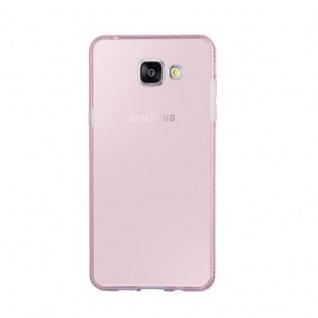Cadorabo Hülle für Samsung Galaxy A5 2016 - Hülle in TRANSPARENT ROSA ? Handyhülle aus TPU Silikon im Strass Design - Silikonhülle Schutzhülle Ultra Slim Soft Back Cover Case Bumper - Vorschau 2
