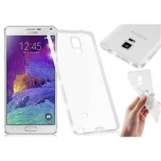 Cadorabo Hülle für Samsung Galaxy NOTE 4 - Hülle in TRANSPARENT WEIß - Handyhülle aus TPU Silikon im Strass Design - Silikonhülle Schutzhülle Ultra Slim Soft Back Cover Case Bumper