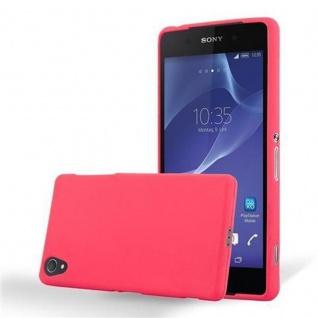 Cadorabo Hülle für Sony Xperia Z1 in FROST ROT - Handyhülle aus flexiblem TPU Silikon - Silikonhülle Schutzhülle Ultra Slim Soft Back Cover Case Bumper