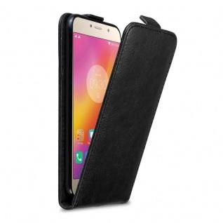 Cadorabo Hülle für Lenovo P2 in NACHT SCHWARZ Handyhülle im Flip Design mit Magnetverschluss Case Cover Schutzhülle Etui Tasche Book Klapp Style