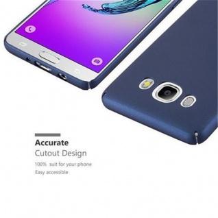Cadorabo Hülle für Samsung Galaxy J5 2016 in METALL BLAU ? Hardcase Handyhülle aus Plastik gegen Kratzer und Stöße ? Schutzhülle Bumper Ultra Slim Back Case Hard Cover - Vorschau 3