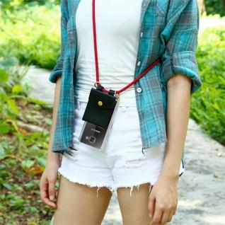 Cadorabo Handy Kette für Samsung Galaxy A5 2016 in RUBIN ROT - Silikon Necklace Umhänge Hülle mit Gold Ringen, Kordel Band Schnur und abnehmbarem Etui ? Schutzhülle - Vorschau 4