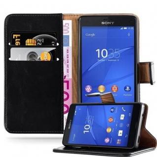 Cadorabo Hülle für Sony Xperia Z3 Compact in GRAPHIT SCHWARZ - Handyhülle mit Magnetverschluss, Standfunktion und Kartenfach - Case Cover Schutzhülle Etui Tasche Book Klapp Style