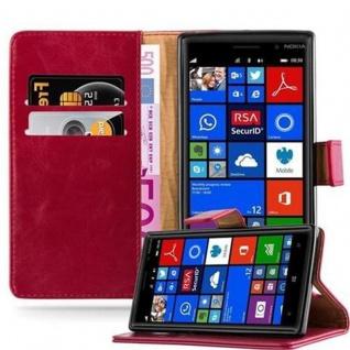 Cadorabo Hülle für Nokia Lumia 830 in WEIN ROT ? Handyhülle mit Magnetverschluss, Standfunktion und Kartenfach ? Case Cover Schutzhülle Etui Tasche Book Klapp Style