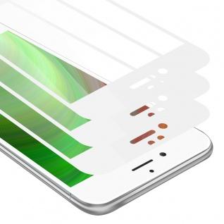 Cadorabo 3x Vollbild Panzer Folie für Apple iPhone 8 PLUS / 7 PLUS / 7S PLUS Schutzfolie in TRANSPARENT mit WEISS 3er Pack Gehärtetes (Tempered) Display-Schutzglas in 9H Härte mit 3D Touch