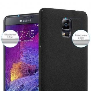 Cadorabo Hülle für Samsung Galaxy NOTE 4 in FROSTY SCHWARZ - Hardcase Handyhülle aus Plastik gegen Kratzer und Stöße - Schutzhülle Bumper Ultra Slim Back Case Hard Cover - Vorschau 5