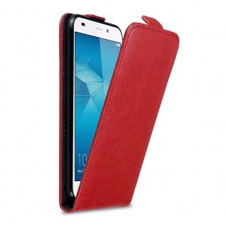 Cadorabo Hülle für Honor 5C in APFEL ROT Handyhülle im Flip Design mit Magnetverschluss Case Cover Schutzhülle Etui Tasche Book Klapp Style