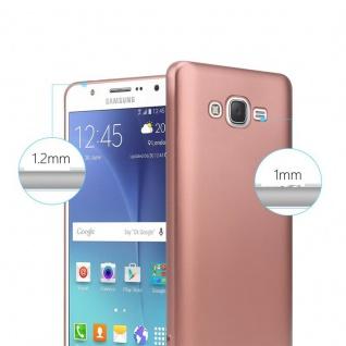 Cadorabo Hülle für Samsung Galaxy J7 2015 in METALLIC ROSÉ GOLD - Handyhülle aus flexiblem TPU Silikon - Silikonhülle Schutzhülle Ultra Slim Soft Back Cover Case Bumper - Vorschau 4