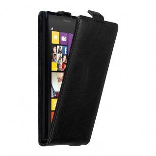 Cadorabo Hülle für Nokia Lumia 1020 in NACHT SCHWARZ - Handyhülle im Flip Design mit unsichtbarem Magnetverschluss - Case Cover Schutzhülle Etui Tasche Book Klapp Style