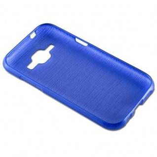 Cadorabo Hülle für Samsung Galaxy J1 2015 in BLAU - Handyhülle aus flexiblem TPU Silikon - Silikonhülle Schutzhülle Ultra Slim Soft Back Cover Case Bumper - Vorschau 2