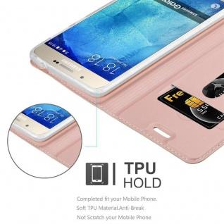 Cadorabo Hülle für Samsung Galaxy A8 2015 in CLASSY ROSÉ GOLD - Handyhülle mit Magnetverschluss, Standfunktion und Kartenfach - Case Cover Schutzhülle Etui Tasche Book Klapp Style - Vorschau 2