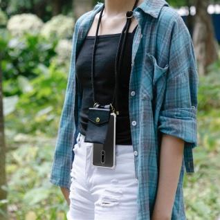 Cadorabo Handy Kette für Nokia 5 2017 in SCHWARZ Silikon Necklace Umhänge Hülle mit Gold Ringen, Kordel Band Schnur und abnehmbarem Etui Schutzhülle - Vorschau 5