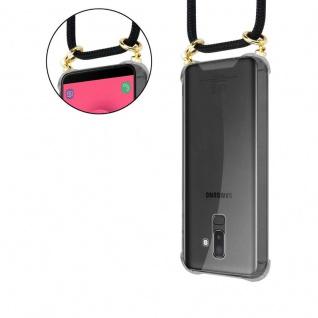 Cadorabo Handy Kette für Samsung Galaxy J8 2018 in SCHWARZ - Silikon Necklace Umhänge Hülle mit Gold Ringen, Kordel Band Schnur und abnehmbarem Etui ? Schutzhülle - Vorschau 5