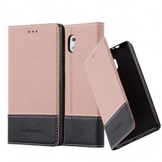 Cadorabo Hülle für Nokia 3 2017 in GOLD SCHWARZ Handyhülle mit Magnetverschluss, Standfunktion und Kartenfach Case Cover Schutzhülle Etui Tasche Book Klapp Style