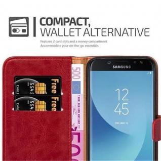 Cadorabo Hülle für Samsung Galaxy J7 2017 in WEIN ROT - Handyhülle mit Magnetverschluss, Standfunktion und Kartenfach - Case Cover Schutzhülle Etui Tasche Book Klapp Style - Vorschau 4