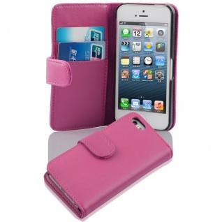 Cadorabo Hülle für Apple iPhone 5 / iPhone 5S / iPhone SE in ANTIK ROSA - Handyhülle aus glattem Kunstleder mit Standfunktion und Kartenfach - Case Cover Schutzhülle Etui Tasche Book Klapp Style