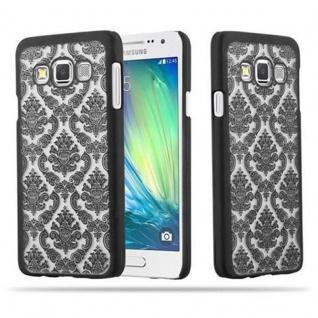 Samsung Galaxy A3 2015 Hardcase Hülle in SCHWARZ von Cadorabo - Blumen Paisley Henna Design Schutzhülle ? Handyhülle Bumper Back Case Cover