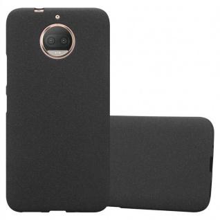 Cadorabo Hülle für Motorola MOTO G5S PLUS in FROST SCHWARZ - Handyhülle aus flexiblem TPU Silikon - Silikonhülle Schutzhülle Ultra Slim Soft Back Cover Case Bumper