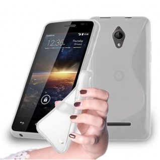 Cadorabo Hülle für Vodafone SMART 4 in HALB TRANSPARENT ? Handyhülle aus flexiblem TPU Silikon ? Silikonhülle Schutzhülle Ultra Slim Soft Back Cover Case Bumper