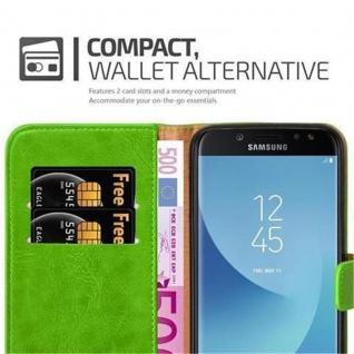 Cadorabo Hülle für Samsung Galaxy J7 2017 in GRAS GRÜN ? Handyhülle mit Magnetverschluss, Standfunktion und Kartenfach ? Case Cover Schutzhülle Etui Tasche Book Klapp Style - Vorschau 4
