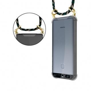 Cadorabo Handy Kette für Huawei P9 in CAMOUFLAGE ? Silikon Necklace Umhänge Hülle mit Gold Ringen, Kordel Band Schnur und abnehmbarem Etui ? Schutzhülle - Vorschau 4