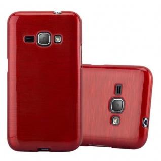 Cadorabo Hülle für Samsung Galaxy J1 2016 in ROT - Handyhülle aus flexiblem TPU Silikon - Silikonhülle Schutzhülle Ultra Slim Soft Back Cover Case Bumper