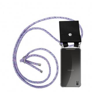 Cadorabo Handy Kette für Sony Xperia XA1 in UNICORN - Silikon Necklace Umhänge Hülle mit Silber Ringen, Kordel Band Schnur und abnehmbarem Etui - Schutzhülle