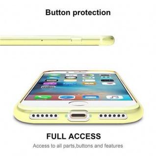 Cadorabo Hülle für Apple iPhone 7 / iPhone 7S / iPhone 8 in TRANSPARENT GOLD - Handyhülle aus flexiblem TPU Silikon - Silikonhülle Schutzhülle Ultra Slim Soft Back Cover Case Bumper - Vorschau 2