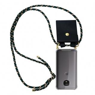 Cadorabo Handy Kette für Motorola MOTO G5S in CAMOUFLAGE ? Silikon Necklace Umhänge Hülle mit Gold Ringen, Kordel Band Schnur und abnehmbarem Etui ? Schutzhülle
