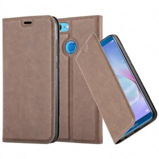 Cadorabo Hülle für Honor 9 LITE in KAFFEE BRAUN - Handyhülle mit Magnetverschluss, Standfunktion und Kartenfach - Case Cover Schutzhülle Etui Tasche Book Klapp Style
