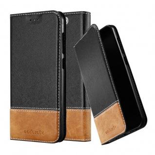 Cadorabo Hülle für HTC One A9 in SCHWARZ BRAUN - Handyhülle mit Magnetverschluss, Standfunktion und Kartenfach - Case Cover Schutzhülle Etui Tasche Book Klapp Style