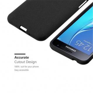 Cadorabo Hülle für Samsung Galaxy J3 / J3 DUOS 2016 in FROST SCHWARZ - Handyhülle aus flexiblem TPU Silikon - Silikonhülle Schutzhülle Ultra Slim Soft Back Cover Case Bumper - Vorschau 3