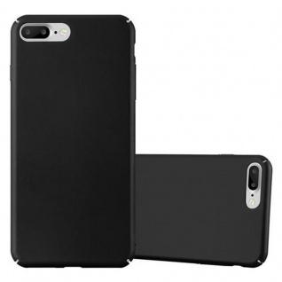 Cadorabo Hülle für Apple iPhone 8 PLUS / iPhone 7 PLUS / iPhone 7S PLUS in METALL SCHWARZ - Hardcase Handyhülle aus Plastik gegen Kratzer und Stöße - Schutzhülle Bumper Ultra Slim Back Case Hard Cover