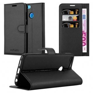 Cadorabo Hülle für Honor 9 LITE in PHANTOM SCHWARZ - Handyhülle mit Magnetverschluss, Standfunktion und Kartenfach - Case Cover Schutzhülle Etui Tasche Book Klapp Style
