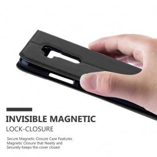 Cadorabo Hülle für Huawei NOVA PLUS in KOMETEN SCHWARZ ? Handyhülle mit Magnetverschluss, Standfunktion und 2 Sichtfenstern ? Case Cover Schutzhülle Etui Tasche Book Klapp Style - Vorschau 5