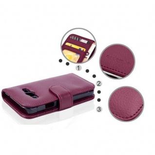 Cadorabo Hülle für Samsung Galaxy Xcover 3 in BORDEAUX LILA ? Handyhülle mit Magnetverschluss und 3 Kartenfächern ? Case Cover Schutzhülle Etui Tasche Book Klapp Style - Vorschau 2