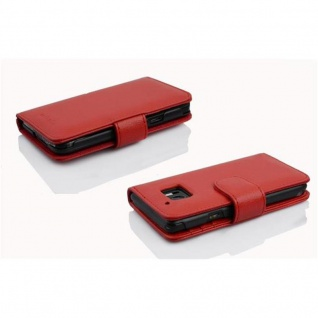 Cadorabo Hülle für HTC 10 (One M10) in INFERNO ROT ? Handyhülle mit Magnetverschluss und 3 Kartenfächern ? Case Cover Schutzhülle Etui Tasche Book Klapp Style - Vorschau 5