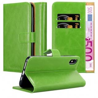 Cadorabo Hülle für Apple iPhone XS MAX in GRAS GRÜN - Handyhülle mit Magnetverschluss, Standfunktion und Kartenfach - Case Cover Schutzhülle Etui Tasche Book Klapp Style