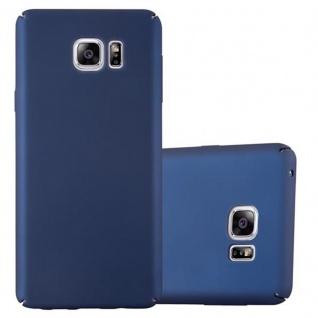 Cadorabo Hülle für Samsung Galaxy NOTE 5 in METALL BLAU - Hardcase Handyhülle aus Plastik gegen Kratzer und Stöße - Schutzhülle Bumper Ultra Slim Back Case Hard Cover
