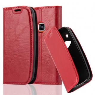 Cadorabo Hülle für Nokia 3310 in APFEL ROT Handyhülle mit Magnetverschluss, Standfunktion und Kartenfach Case Cover Schutzhülle Etui Tasche Book Klapp Style