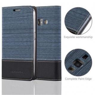 Cadorabo Hülle für Samsung Galaxy J1 2016 in DUNKEL BLAU SCHWARZ - Handyhülle mit Magnetverschluss, Standfunktion und Kartenfach - Case Cover Schutzhülle Etui Tasche Book Klapp Style - Vorschau 2