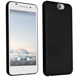 Cadorabo Hülle für HTC One A9 in METALL SCHWARZ - Hardcase Handyhülle aus Plastik gegen Kratzer und Stöße - Schutzhülle Bumper Ultra Slim Back Case Hard Cover