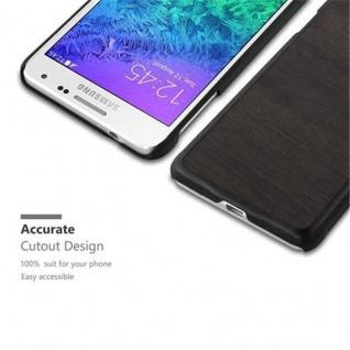 Cadorabo Hülle für Samsung Galaxy ALPHA in WOODY SCHWARZ - Hardcase Handyhülle aus Plastik gegen Kratzer und Stöße - Schutzhülle Bumper Ultra Slim Back Case Hard Cover - Vorschau 2