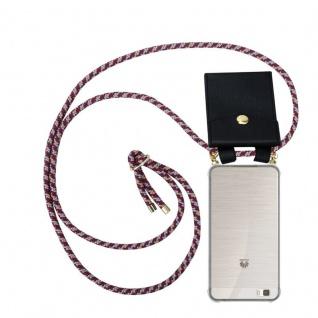 Cadorabo Handy Kette für Huawei P8 LITE 2015 in ROT GELB WEISS - Silikon Necklace Umhänge Hülle mit Gold Ringen, Kordel Band Schnur und abnehmbarem Etui ? Schutzhülle - Vorschau 1