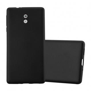 Cadorabo Hülle für Nokia 3 2017 in METALLIC SCHWARZ - Handyhülle aus flexiblem TPU Silikon - Silikonhülle Schutzhülle Ultra Slim Soft Back Cover Case Bumper