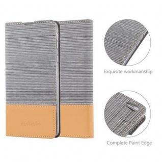 Cadorabo Hülle für Sony Xperia E5 in HELL GRAU BRAUN - Handyhülle mit Magnetverschluss, Standfunktion und Kartenfach - Case Cover Schutzhülle Etui Tasche Book Klapp Style